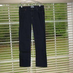 LIZ CLAIBORNE City Fit Straight Dark Wash Jeans 12